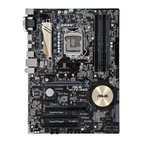 Socket 1151 ASUS H170-PRO (iH170, 4xDDR4, SATA 6Gb/s, M.2, DVI/D-SUB/HDMI, 4xUSB 3.0, GLAN, ATX)