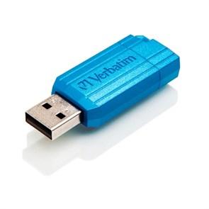 USB 2.0 Flash Drive 32GB Verbatim PinStripe, синий (#49057)