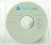 CD-R 700Mb 80min Verbatim 52x, slim