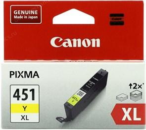К-ж Canon CLI-451Y XL Yellow (MG6340, MG5440, IP7240) увеличенной емкости, ориг.