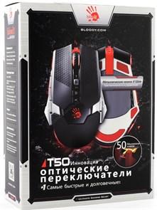 Мышь A4Tech Bloody T50, мет. ножки, USB