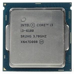 Intel Core i3-6100 3МБ, 3.7ГГц, Intel® HD Graphics 530, S1151, 51W, OEM