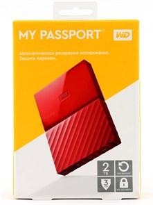"""USB 3.0 HDD 2.5"""" 2 TB WD My Passport™ Red (WDBUAX0020BRD-EEUE)"""