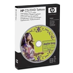 Наклейки для CD/DVD HP, глянцевые, 15шт (Q8047A)