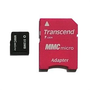 microMMC Memory Card 512Mb Transcend