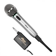 Радиомикрофон динамический Ritmix RWM-101, титан, до 15м