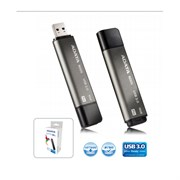 USB 3.0 Flash Drive 16GB ADATA Nobility N005 PRO (1200x), серый алюминий (AN005P-16G-CGY)
