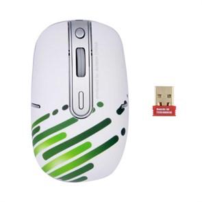 Мышь беспров. A4Tech G9-557FX-2 бело-зеленая, мини-пр., optical, 2000dpi, 4кн., USB