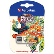 USB 2.0 Flash Drive 16GB Verbatim Mini Tattoo Edition, Феникс (#49887)
