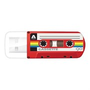 USB 2.0 Flash Drive 16GB Verbatim Mini Casette Edition, красный (#49398)