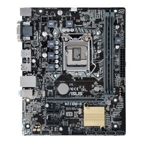 Socket 1151 ASUS H110M-K (iH110, 2xDDR4, SATA 6Gb/s, DVI/D-SUB, 2xUSB 3.0, GLAN, mATX)
