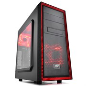 ATX Deepcool TESSERACT SW RED без БП, боковое окно, красный/черный