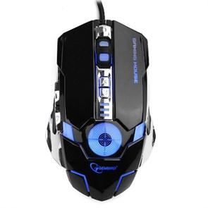 Мышь Gembird MG-530, игровая, USB, 3200dpi, 5+1кн., подсветка, макросы