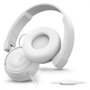 Гарнитура JBL T450 White (оголовье, белая, 32мм драйверы PureBass™, 20Гц-20кГц)