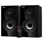SVEN SPS-615 (2x10W, MDF, 60Гц-20кГц, Bluetooth, USB, SD, ПДУ), черные