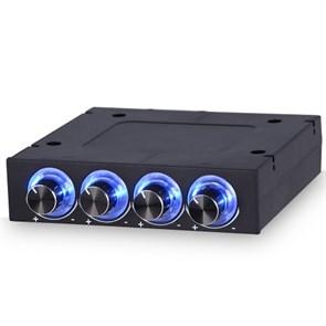 "Панель упр. STW-6002 3.5"" (регулировка вентиляторов 4 канала, 5-12V, LED)"