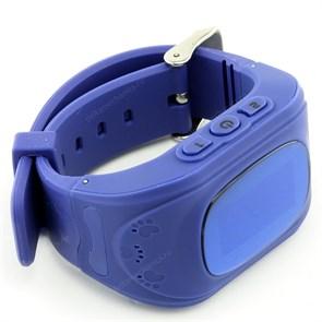 Умные детские часы Smart Baby Watch Q50 с GPS и функцией телефона, темно-синие