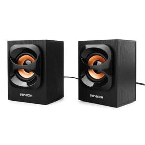 Гарнизон GSP-300, черные, 2х3 Вт, MDF, USB-питание