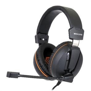 Gembird MHS-G100, код Survarium, черная/оранжевая, рег. громк., шнур 2.5м