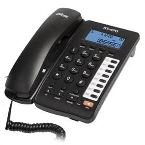 Телефон Ritmix RT-470 черный (дисплей, спикерфон)