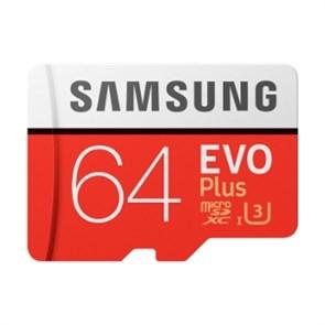 microSD Memory Card SDXC 64GB Class10 UHS-I U3 Samsung EVO Plus (MB-MC64GA/RU)